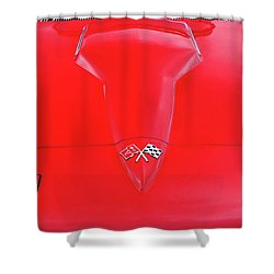 Shower Curtain featuring the photograph Red Corvette by Dave Mills