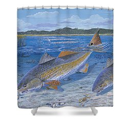 Red Creek In0010 Shower Curtain by Carey Chen