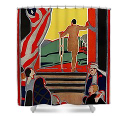 Red Cross Poster, 1919 Shower Curtain by Granger