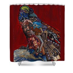 Red Crow Shower Curtain