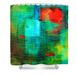 Red Dash Shower Curtain