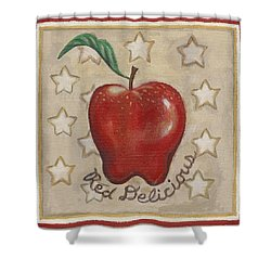 Red Delicious Two Shower Curtain by Linda Mears
