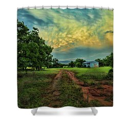 Red Dirt Road Shower Curtain by Toni Hopper
