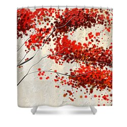 Red Divine- Autumn Impressionist Shower Curtain
