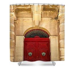 Red Door Shower Curtain