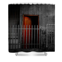 Red Door Shower Curtain