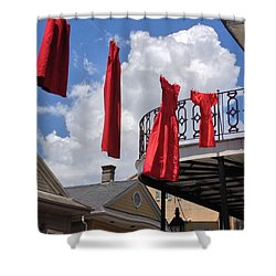 Red Dress Lineup  Shower Curtain