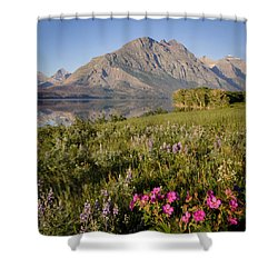 Shower Curtain featuring the photograph Red Eagle Mountain by Jack Bell