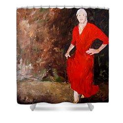Red Ellegance Shower Curtain
