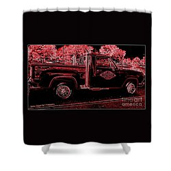 Shower Curtain featuring the photograph Red Expression by Bobbee Rickard