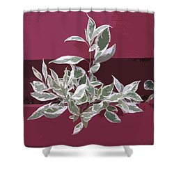 Shower Curtain featuring the photograph Red Fence by Donald S Hall
