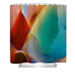 Red Fish Green Fish Shower Curtain by Omaste Witkowski