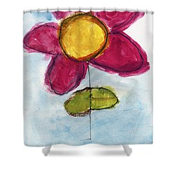 Red Flower Shower Curtain by Skip Nall