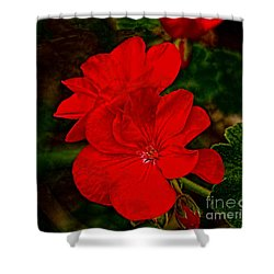 Red Flowers Shower Curtain