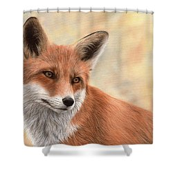 Red Fox Painting Shower Curtain