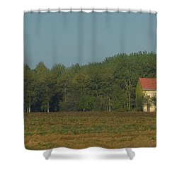 Red French Cottage Shower Curtain