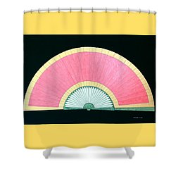 Red Gold Fan Shower Curtain