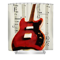 Red Guitar Shower Curtain by Bill Cannon