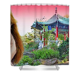 Red Hair And Freckled IIi Altered Version  Shower Curtain by Jim Fitzpatrick