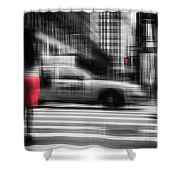 RED Shower Curtain by Hannes Cmarits