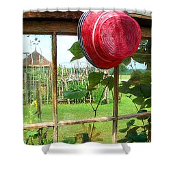 Red Hat By Jan Marvin Shower Curtain