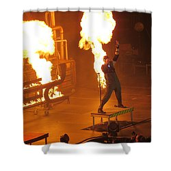 Red Heats Up Winterjam In Atlanta Shower Curtain