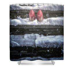Red High Heels Shower Curtain by Joana Kruse