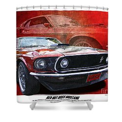 Boss Mustang Shower Curtain