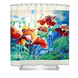 Red Hot Cool Blue Shower Curtain