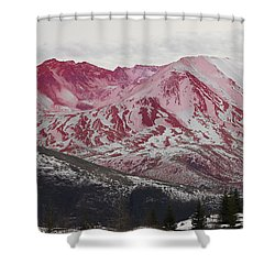 Red Hot St Helen Shower Curtain