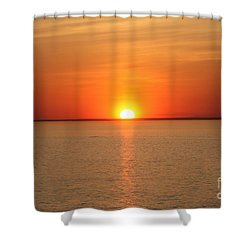Shower Curtain featuring the photograph Red-hot Sunset by John Telfer