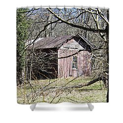 Shower Curtain featuring the photograph Red House by Nick Kirby