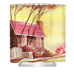 Red House R Shower Curtain by Anil Nene