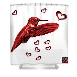 Red Hummingbird - 2055 F S M Shower Curtain by James Ahn