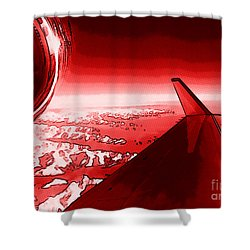 Shower Curtain featuring the photograph Red Jet Pop Art Plane by R Muirhead Art