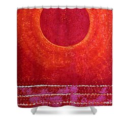 Red Kachina Original Painting Shower Curtain