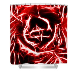 Red Lettuce Shower Curtain