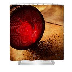 Red Light Shower Curtain