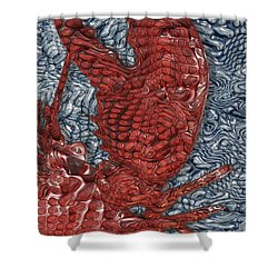 Red Lobster Shower Curtain by Jack Zulli
