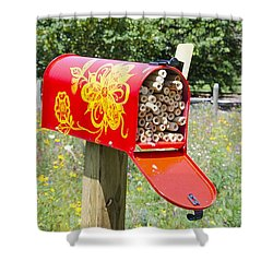Red Mailbox Shower Curtain by Lanjee Chee