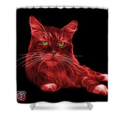 Red Maine Coon Cat - 3926 - Bb Shower Curtain by James Ahn