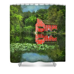 Red Mill Art Shower Curtain