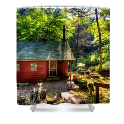 Red Mountain Home Shower Curtain by Dan Friend