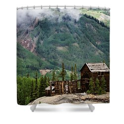 Red Mountain Remnants Shower Curtain
