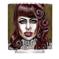 Red Muneca Shower Curtain