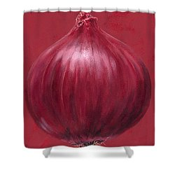 Red Onion Shower Curtain by Brian James