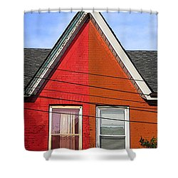 Shower Curtain featuring the photograph Red-orange House by Nina Silver