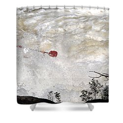 Shower Curtain featuring the photograph Red Paddle by Carol Lynn Coronios
