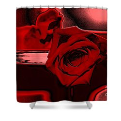 Red Passion. Rose Shower Curtain