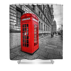 Red Phone Box And Big Ben Shower Curtain